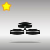 Concepto negro del símbolo del logotipo del botón del icono de la energía del biogás de alta calidad Imagen de archivo
