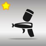 Concepto negro del símbolo del logotipo del botón del icono del arma de espray de alta calidad Imagen de archivo