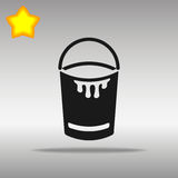 Concepto negro del símbolo del logotipo del botón del icono del cubo de alta calidad Imagenes de archivo