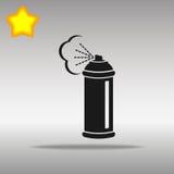 Concepto negro del símbolo del logotipo del botón del icono del espray de alta calidad Fotografía de archivo libre de regalías