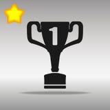 Concepto negro del símbolo del logotipo del botón del icono del ganador de alta calidad Imagenes de archivo
