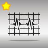 Concepto negro del símbolo del logotipo del botón del icono del latido del corazón de alta calidad Fotos de archivo