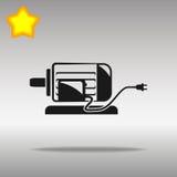 Concepto negro del símbolo del logotipo del botón del icono del motor eléctrico de alta calidad Fotos de archivo libres de regalías