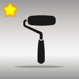 Concepto negro del símbolo del logotipo del botón del icono del rodillo de pintura de alta calidad Imagen de archivo libre de regalías