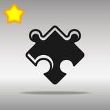 Concepto negro del símbolo del logotipo del botón del icono del rompecabezas de alta calidad Fotos de archivo