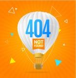 concepto no encontrado 404 Vector Imagen de archivo