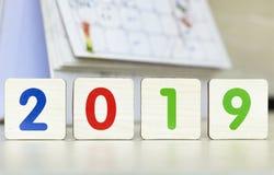 Concepto 2019: Nuevo concepto de la esperanza del Año Nuevo foto de archivo libre de regalías