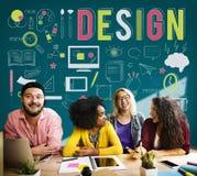 Concepto objetivo de las ideas del propósito del planeamiento creativo del diseño Fotos de archivo