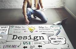 Concepto objetivo del planeamiento de las ideas creativas gráficas del diseño imagenes de archivo