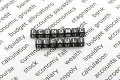 Concepto omitido de la economía Fotografía de archivo