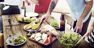 Concepto orgánico delicioso sano de la comida de la tabla de la comida imágenes de archivo libres de regalías