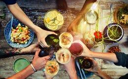 Concepto orgánico delicioso sano de la comida de la tabla de la comida imagen de archivo