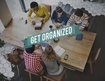 Concepto organizado de la productividad de la gestión de las ideas fotografía de archivo libre de regalías