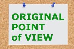 Concepto ORIGINAL de Point of View Ilustración del Vector