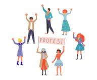Concepto público de la protesta de la calle fotografía de archivo