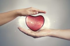 Concepto para el día del ` s de la tarjeta del día de San Valentín Foto de archivo libre de regalías