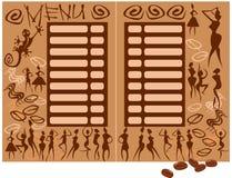 Concepto para el menú de la cafetería stock de ilustración