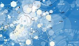 Concepto para el negocio corporativo y el desarrollo de la nueva tecnología stock de ilustración