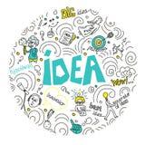 Concepto para el negocio, las finanzas, consultar, la gestión, el análisis, la estrategia y el planeamiento, inicio Idea del ejem ilustración del vector