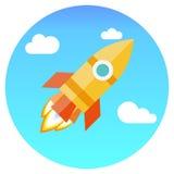 Concepto para el nuevo inicio del proyecto del negocio ilustración del vector
