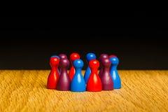 Concepto para la púrpura del rojo azul del equipo Imagen de archivo libre de regalías