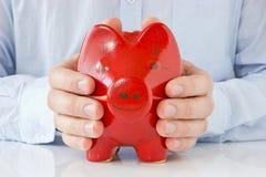 Concepto para la protección del dinero Fotografía de archivo