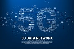 Concepto para la red global de la telecomunicación móvil libre illustration