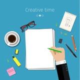 Concepto para las ideas que bosquejan Foto de archivo