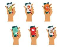 Concepto para los apps móviles Fotografía de archivo libre de regalías