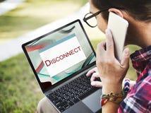 Concepto parado error de la precaución de la desconexión del sistema imagen de archivo