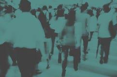 Concepto peatonal que camina de Hong Kong People Commuters City Foto de archivo libre de regalías