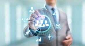 Concepto personal del negocio del crecimiento de la oportunidad de la carrera en la pantalla stock de ilustración