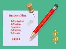 Concepto. Plan empresarial ilustración del vector