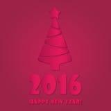 Concepto plano colorido del ejemplo del vector del diseño de la Feliz Año Nuevo 2016 Imagen de archivo