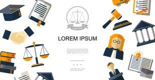 Concepto plano de la justicia stock de ilustración
