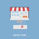 Concepto plano de las compras del diseño del vector Fotos de archivo libres de regalías