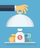Concepto plano del ejemplo del servicio financiero Imagen de archivo libre de regalías