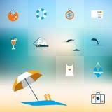 Concepto plano del icono del verano stock de ilustración