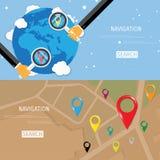 Concepto plano del vector de World Travel y de turismo Fotos de archivo