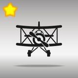 Concepto plano retro negro del símbolo del logotipo del botón del icono de alta calidad Imagen de archivo libre de regalías