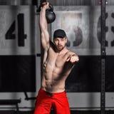 Concepto: poder, fuerza, forma de vida sana, deporte Athle joven Imagen de archivo