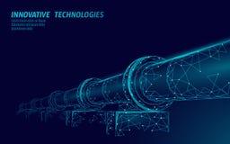 Concepto polivinílico bajo del negocio del oleoducto Producción poligonal de la gasolina de la economía de las finanzas Industria ilustración del vector