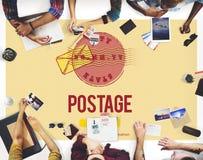 Concepto postal de los matasellos de la entrega del sello del franqueo fotos de archivo libres de regalías