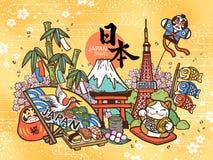 Concepto precioso del viaje de Japón libre illustration