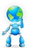 Concepto principal del robot del globo Foto de archivo