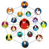 Concepto profesional del sitio del establecimiento de una red stock de ilustración