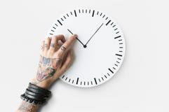 Concepto puntual de la duración del calendario del tatuaje segundo Foto de archivo