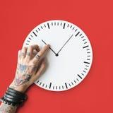 Concepto puntual de la duración del calendario del tatuaje segundo Imagenes de archivo