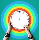 Concepto puntual de la duración del calendario del tatuaje segundo Fotografía de archivo
