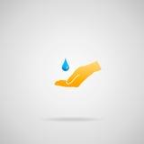 Concepto puro del agua stock de ilustración
